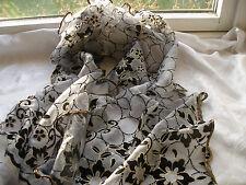 E490 Gris Or Noir Floral Cercles Pailleté Maille Soirée Femmes Écharpe Pashmina