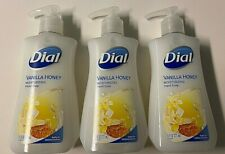 3 PK DIAL HAND SOAPS 3 X 7.5 fl oz/221 HAND PUMP BOTTLES - VANILLA HONEY