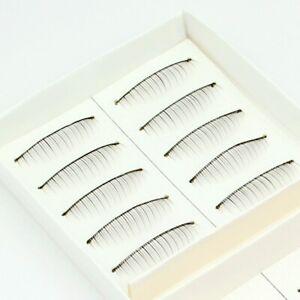 10 Pairs Thin Natural Lower Down False Eyelashes Fake Make up Eye Lashes Lash