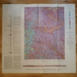Vintage 1967 Geologic Map of Hackett Quadrangle, Washington County, Pennsylvania