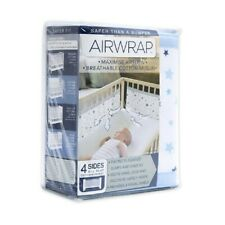 Airwrap 4-Sided Bed Bumpers Blue Stars