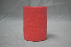 2 x Red Self Adhesive Bandage 5cm x 4.5m Finger Sports Breathable Tape
