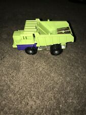 Vintage 1984 G1 Transformers Long Haul Decepticon Lime Green Dump Truck.