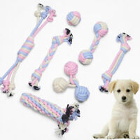 AU_ FE- Pet Dog Puppy Cotton Rope Bite-resistant Molar Tooth Cleaning Chewing Pl
