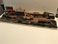 RAILROAD SALVAGE COMPANY*... LARGE DIORAMA (35x16) Handmade by Seller HO