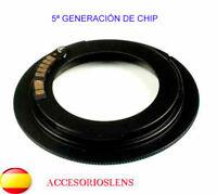 ADAPTADOR OBJETIVOS DE ROSCA M42 A CANON EOS CON CHIP CONFIRMACION DE ENFOQUE AF