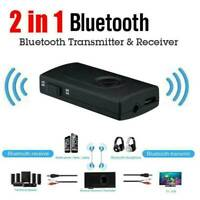 2in1 Bluetooth 5.0 Transmitter Adapter Audio Receiver for TV Speaker Headphone