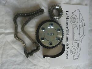 Triumph saloon 2000/2.5  Vernier duplex timing sprockets and chain set