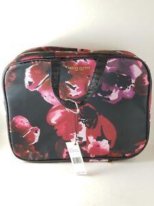 Taylor Brooke New York Red Floral Morgan  Satchel Design Cosmetic Bag.. New