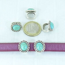 5 Abalorios Para Cuero Regaliz 15x12mm T351X Plata Tibetana Beads Bijou Perles
