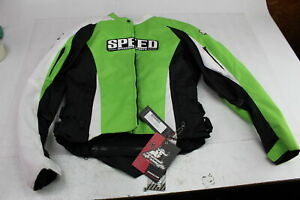 SPEED AND STRENGTH THROTTLE BODY JACKET WOMENS SIZE S GREEN/BLACK 877263