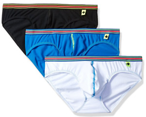 Andrew Christian Mens Tagless Boy Brief 3-Pack W/ Almost Naked Multi-Colour Male