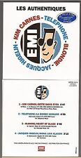 LES AUTHENTIQUES EMI CD PROMO blondie higelin telephone french card sleeve
