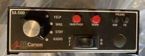 Carson SA-500 Cruiser Siren Amplifier Amp for emergency vehicles Refurbished