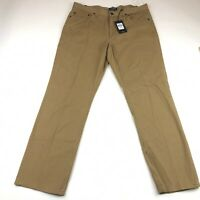 Chaps Mens Brown Straight Fit 5 Pocket Twill Pants Size 36x32 NEW