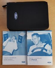 FORD FOCUS  HANDBOOK OWNERS MANUAL WALLET AUDIO GUIDE 2004-2007 PACK D-936