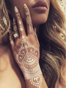 HENNA Temporary Tattoo - 30+ Beautiful Designs - Floral Mehndi Paisley Flowers