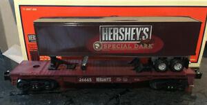 Lionel Hershey's Dark trailer flat car auto carrier transport freight train MTH