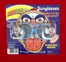 Vintage 1985 MADBALLS Sunglasses SCREAMIN' MEEMIE MOC ball head figure series 1