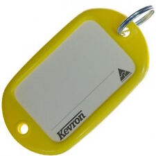 Motel Key Tags 12 Yellow Plastic KEVRON Tags W/Ring -12pcs-FREE POST