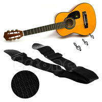 Adjustable Fuax Leather Ends Guitar Strap For Electric Acoustic Guitar Bass New