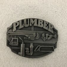 Showers Siskiyou Buckle Co. 1987 Plumber Belt Buckle Alsons Personal