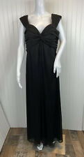 Alex Evenings Dress 14W Black Full Length Sleeveless Chiffon Formal