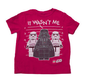 Boys Star Wars T Shirt LEGO It wasn't Me Red T Shirt Small