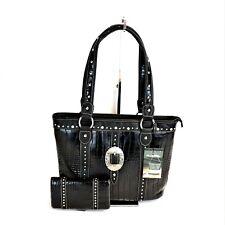 Montana West Purse Buckle Design Matching Wallet Set Western Designer Handbag