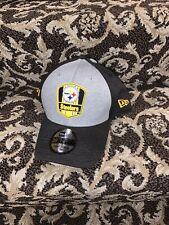 L/XL Black / Gray Pittsburgh Steelers New Era Onfield Hat NWT