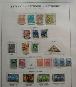 1918-1921 LOT EESTI ESTLAND ESTONIA ESTHONIE B400.4 START $0.99