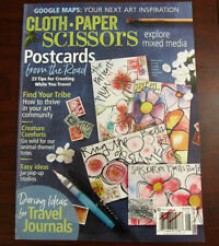 Cloth Paper Scissors July August 2017 Explore Mixed Media Art FREE SHIPPING