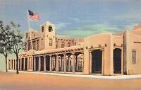 Santa Fe New Mexico 1940s Postcard US Post Office and Federal Building