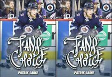 2x  FAN'S CHOICE 2018 PATRIK LAINE Topps NHL Skate Digital Card