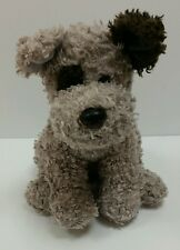 """TY 2005 Plush PUPPY Classic Beanie Buddy 12"""" Curly Gray Brown Terrier DOG Animal"""