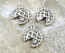 3 Pewter  APPLE PIE Charms - 5247