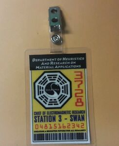 Lost TV Series ID Badge -Chief of Electromagnetic Swan cosplay prop costume