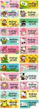 Personalized Waterproof Name label sticker, Assorted Cartoon Qty20 Large