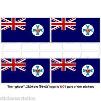 QUEENSLAND State Flag Australia QLD Australian 50mm Vinyl Stickers, Decals x4