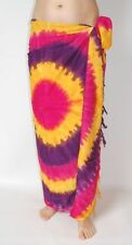 NEW MULTI COLOURED TIE DYE SARONG FULL LENGTH COVER PAREO WRAP ONE SIZE / sa205