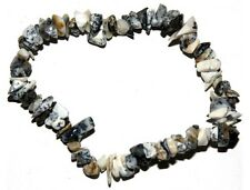 Dendritic Agate crystal chip healing bracelet - Free Postage