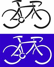 Bicycle Pick Your Color Vinyl Car Window Cutout Sticker Decal Bike Computer