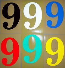 1x 6cm Height Glossy Reflective Number Stickers For St Number/Letterboxes