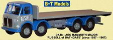 B-T Models DA38 AEC Mammoth Major Russel Bathgate 1/76 Scale/OO Gauge - T48 Post