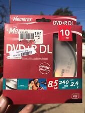 Memorex LightScribe DVD+R 10 Pack 8.5 GB 240min 2.4x NEW IN BOX