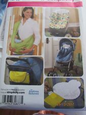 simplicity sewing pattern 3712 BABY ACCESSORIES SLING CHANGING PAD ETC