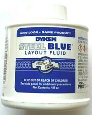 Dykem Steel Blue Layoutstaining Fluid 4oz Brush In Cap 80300