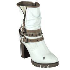 1363-601-1 Gr 37 Mustang Damen Schuh Musterschuh NEU Weiß Stiefelette