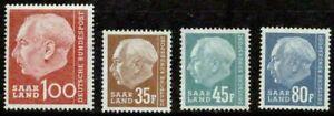 SAAR – 1957 –  THEODOR HEUSS – VF**