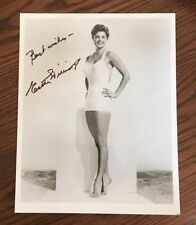 ESTHER WILLIAMS, Competitive Swimmer and Actress, 8 X 10 B&W SIGNED PHOTO